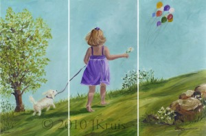 """The Chase"" triptych"