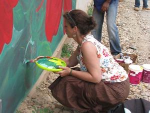Mural in Haiti - 2009