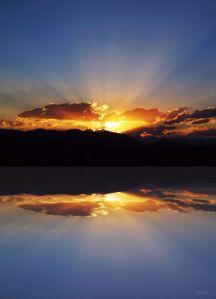 sunrise mountain reflection IMG_2335